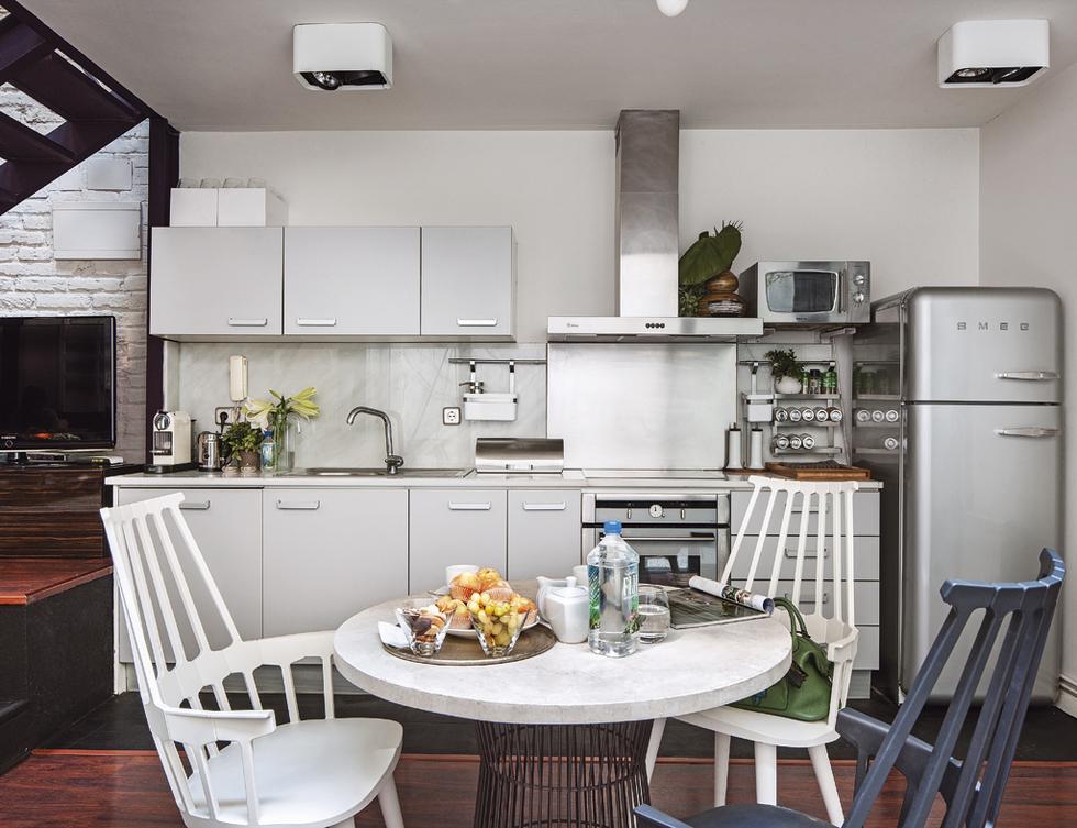 Cocina en el loft de diseño