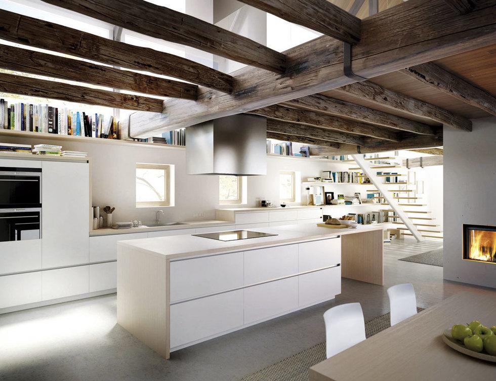 modelo sin tiradores de xey en una cocina de impecables acabados y esplndidos lacados