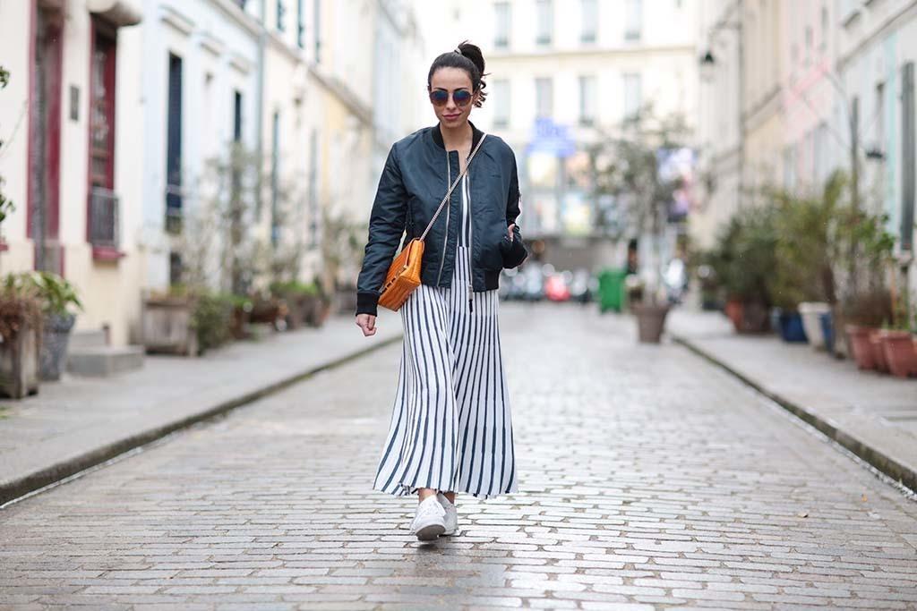 Vestido largo y zapatillas