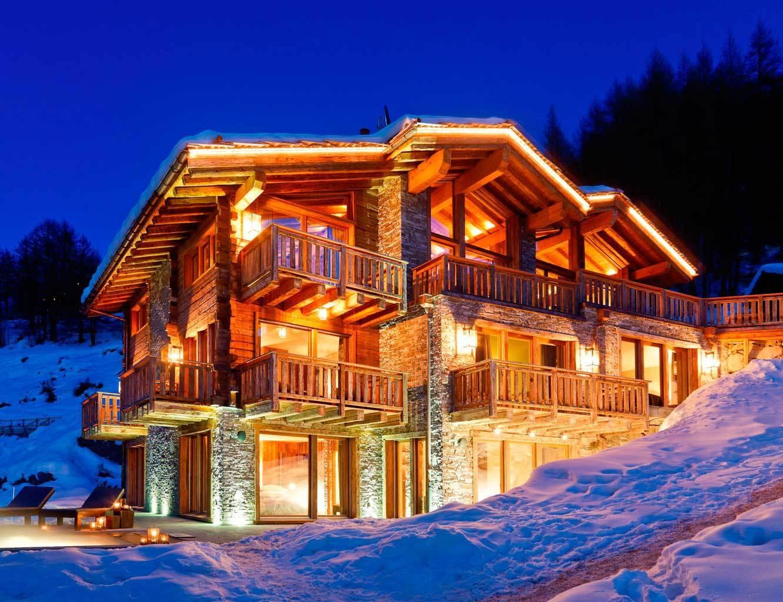 Dise o a pie de pista - Casas en los alpes suizos ...